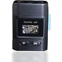 【二個電池付き】OVTECH 360度カメラ アクションカメラ 全天球VRカメラ1080P wifi接続 4種映像モード ドライブレコーダー 日本語対応 (ブラック)