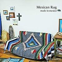 RUG&PIECE メキシコ製 ネイティブ柄 メキシカンラグマット 200cm×120cm (rug-6722)