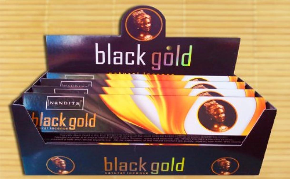 挑む効能一致するNandita – ブラックゴールド – Natural Incense