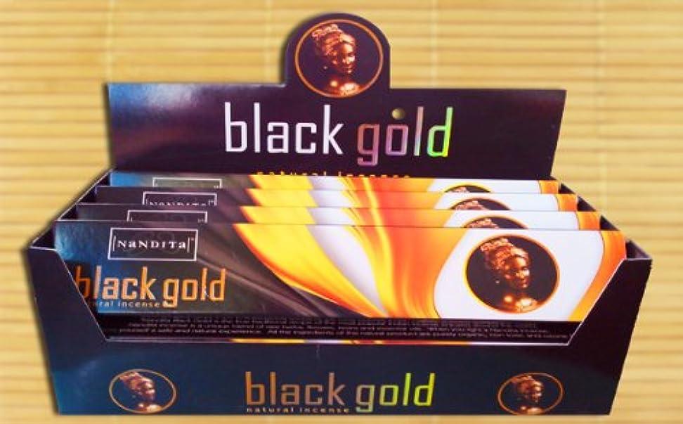 アナウンサー隔離するフックNandita – ブラックゴールド – Natural Incense