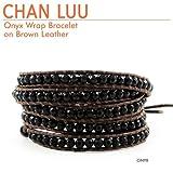 CHAN LUU[チャンルー] ラップ レザーブレスレット w/オニキス Brown [正規輸入品][ジュエリー][CHANLUU]