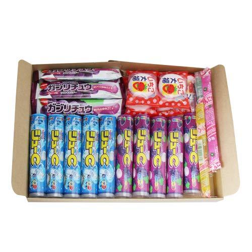 おかしのマーチ ラムネ・ゼリー・マシュマロ チューイングキャンディ駄菓子食べ比べ(4種・全25コ)セット A