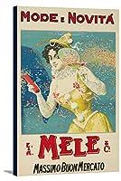Mele–モードE NovitaヴィンテージポスターイタリアC。1910 11 1/8 x 18 Gallery Canvas LANT-3P-SC-60682-12x18