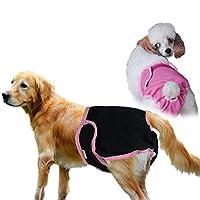 L-Peach 2枚組 ペットショーツ 犬おむつカバー マナーウェア 雌犬の介護 発情期用 マナーおむつ カバー おもらし対策 ワンちゃんのケアーグッズ ピンク+ブラック Mサイズ