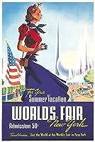 新しいYork World 's Fairヴィンテージポスター(アーティスト:スミス、ロバート・Harmer ) USA C。1939 24 x 36 Signed Art Print LANT-64742-710
