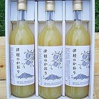 青森りんごジュース ストレート 3本 完熟 720ml瓶 成田農園 国産 贈答品 お取り寄せ