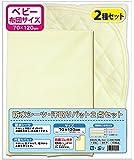 綿100%パイル地 おねしょシーツ(防水シーツ)+汗取りパット2点セット(70×120cm)