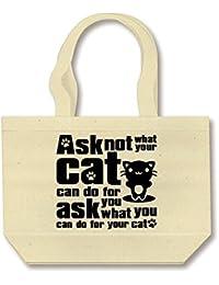(クラブティー) ClubT Cat_Print トートバッグ (ナチュラル) M ナチュラル