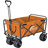 FIELDOOR ワイルドマルチキャリー/折りたたみ式多用途キャリーカート (オレンジ) 耐荷重120kg アウトドア キャンプ レジャー