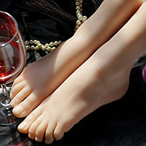 可愛い・女の子・足【Z&L・DOLL】素敵 細め 超・リアル 女性 実物大 シリコン 足模型 フートトルソー フートマネキン 足トルソー 足マネキン 3D 教学用 練習モデル (両足)