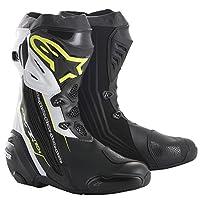 alpinestars(アルパインスターズ)バイクブーツ ブラック/イエローフロー/ホワイト 42/26.5cm SUPERTECH-R(スーパーテックR)ブーツ0015 1691310642
