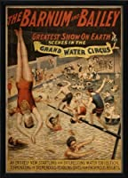The Artwork Factory Grand Water Circus Vintage Poster Ready to Hang Artwork by The Artwork Factory [並行輸入品]