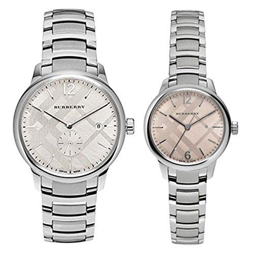 [バーバリー]BURBERRY ペアウォッチ シルバー ピンク ステンレスウォッチ BU10004BU10111 腕時計 [並行輸入品]