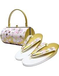 振袖用 草履バッグセット 桜 成人式 結婚式 卒業式 袴 エナメル M L サイズ