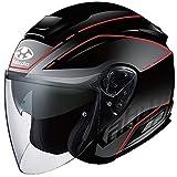オージーケーカブト(OGK KABUTO) バイクヘルメット ジェット ASAGI BEAM(ビーム) フラットブラック 569556 L (頭囲 59cm~60cm)