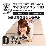 エイプマンパッド H3 ダブルサイズ/ミッドグレー