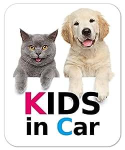 kmag 犬&猫マグネット Kids in Car