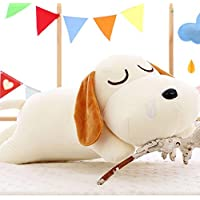 HuaQingPiJu-JP ぬいぐるみ40cm犬子犬をかわいいと柔らかいぬいぐるみぬいぐるみぬいぐるみ完璧なクリスマス子供ギフト(白)