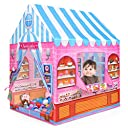 Anyshock テント 子供 女の子 おもちゃ 折り畳み式 ポータブル 玩具収納 秘密基地 知育玩具 プレゼント 室内用 裏庭用 公園用 キッズテント
