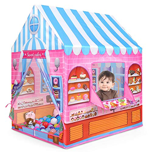 Anyshock テント 子供 女の子 おもちゃ 折り畳み式 ポータブル 玩具収納 秘密基地 知育玩...