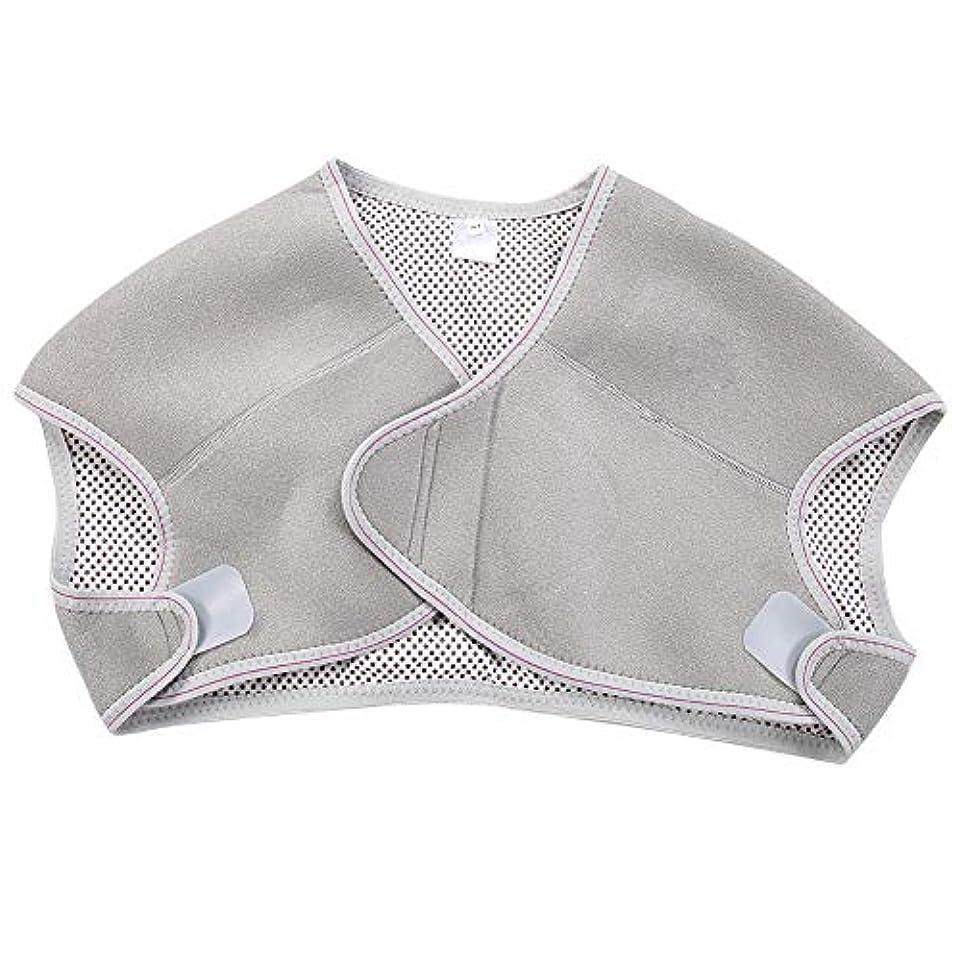 ブラシ富豪野ウサギTOPINCN 肩パッド 発熱療法磁気ショルダーパッド 肩 温め ホット 血行促進 ホット 痛み解消 着脱 簡単 男女兼用 調節可能 自己発熱(M)