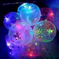 Liebye 装飾バルーン 夜のパーティーのクリスマスの新年のための光るラテックスバルーン 12インチ 1PCS 2 . 8グラム 2.8グラムのイルミネーションが透明に混じっている