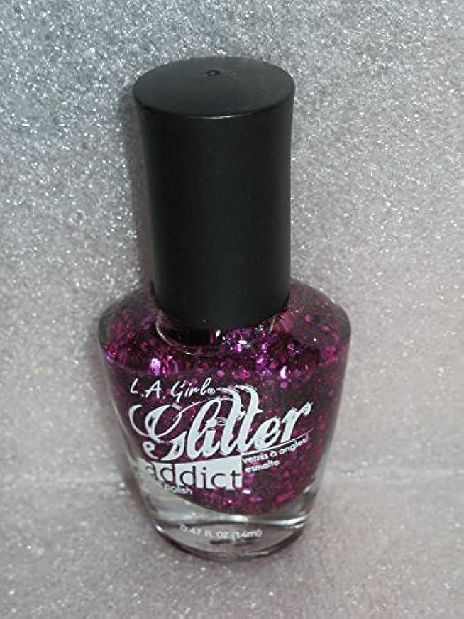 昼食光景指LA GIRL Glitter Addict Polish - Provocative (並行輸入品)
