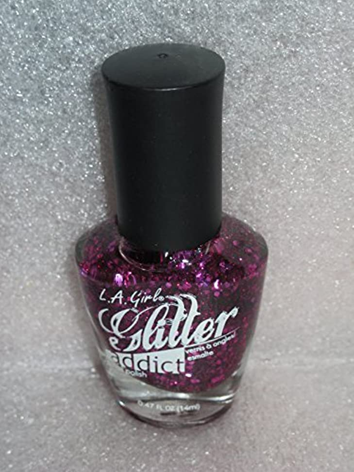 スリムすなわち正確LA GIRL Glitter Addict Polish - Provocative (並行輸入品)