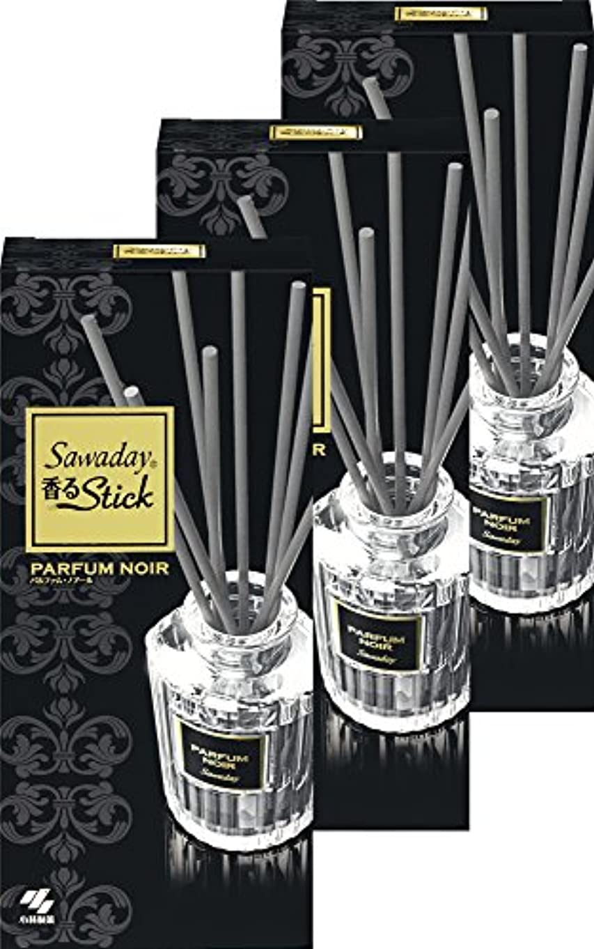 神経薄める銀【まとめ買い】サワデー香るスティック 消臭芳香剤 本体 パルファムノアール 70ml×3個