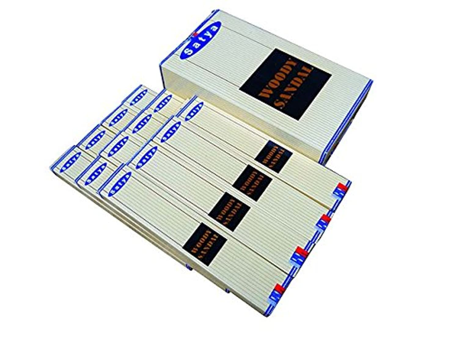 詳細に実行アルプスSATYA(サチャ) ウッディサンダル香 スティック WOODYSANDAL 12箱セット