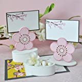 Cherry Blossom Place Card Favor Boxes with Designer Place Cards (Set of 12) - Baby Shower Gifts & Wedding Favors by Eventblossom [並行輸入品]