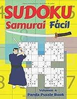 Sudoku  Samurai Facil - Volumen 4: Juegos De Lógica Para Adultos
