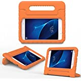 MoKo Samsung Galaxy Tab A 7.0 Case - Kids Shock Proof Convertible Handle Light Weight Super Protective Stand Cover for Samsung Tab A 7.0 Inch Tablet 2016 Release (SM-T280/SM-T285 Version ONLY), ORANGE