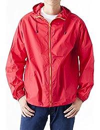 ティーシャツドットエスティー パーカー ナイロン フルジップ 撥水 防風 フード ポケット付き メンズ