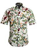 APTRO(アプトロ)半袖シャツ メンズ 花柄 プリント 鳥柄 フローラル ハワイアン柄 フローラル ファンション ハワイ ラペル アロハシャツ APT1021 S