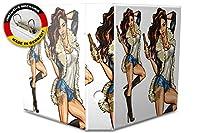 バインダー 2 Ring Binder Lever Arch Folder A4 printed Woman with beer