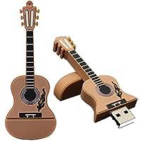 16GBギターUSB 2.0金属フラッシュメモリスティックストレージ親指U diskoryスティックストレージOTG PC電話