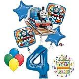 The UltimateトーマスThe Train Engine 4th BirthdayパーティーSuppliesとバルーンデコレーション