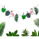 St. Lun Flamingo Leaves Party Decoration Garland Birthday Photo Prop Tropical Hawaiian