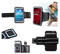 DFV mobile -アームバンド プロフェッショナル カバー ネオプレンの防水のラップアラウンド スポーツ用バックル付き => ECOO Aurora > 黒