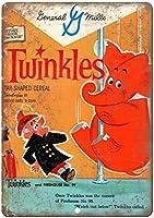 Twinkles General Millsシリアルボックス 金属板ブリキ看板注意サイン情報サイン金属安全サイン警告サイン表示パネル