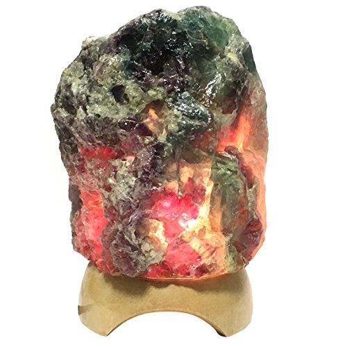 フローライト ランプシェード インテリア パワーストーン 観賞石 ライトスタンド 照明 蛍石 原石