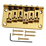 Baosity 亜鉛合金 6弦ギター サドルブリッジ テールピース エレクトリックギター用 アクセサリー 全3色 - ゴールド