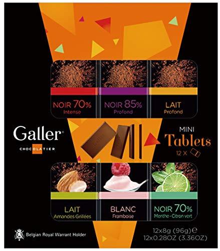 Galler ガレー チョコレート ベルギー王室御用達 ミニタブレットギフトボックス (12個入)