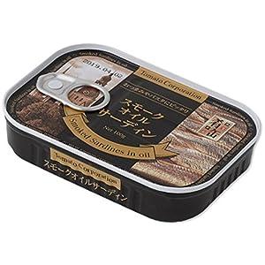 トマトコーポレーション 肴缶 スモークオイルサーディン(ラトビア産) 100g×6個