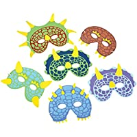 [ロードアイランドノベルティー]Rhode Island Novelty 12 Dinosaur Foam Masks Approx. 7.5 Inch New COFODIN [並行輸入品]