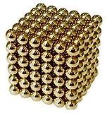 強力磁石の立体パズル!マグネットボール216個セット ゴールド