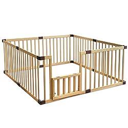 タンスのゲン BabyDays(ベビーデイズ) 扉付き ハイタイプ ベビーサークル 木製 ジョイント式 高さ70cm 8枚セット ナチュラル 30600005 01