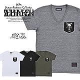 (ゼファレン)ZEPHYREN VNECK TEE -SKULL HEAD-【ZEPHYREN 2015 秋冬】【メンズ Tシャツ】 BLACK M