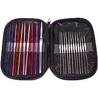 22本 22サイズ  カギ針  かぎ針+レース針 アフガン針 編み針 レースあみ針 レース針  2.0-8mm